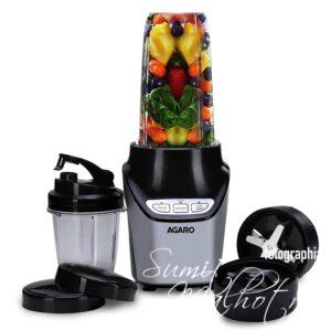 AGARO Marvel 1000W Nutri Blender with 100% Copper Motor, 2 Speed Modes & 2 Tritan Jar (1L and 0.5L) Mix, Blend & Grind