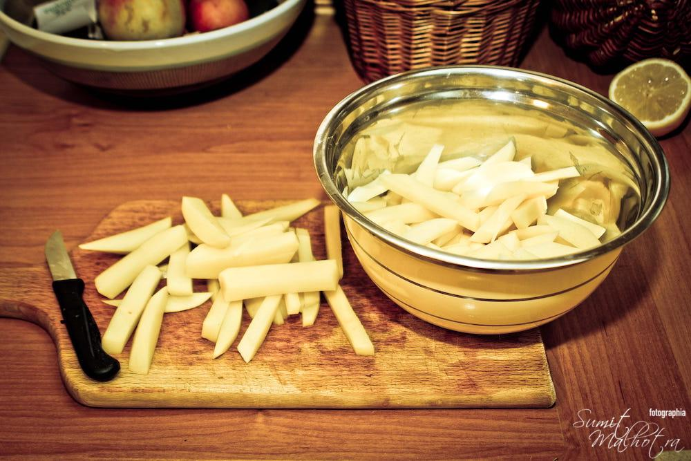 Potatoes Cut for French Fries