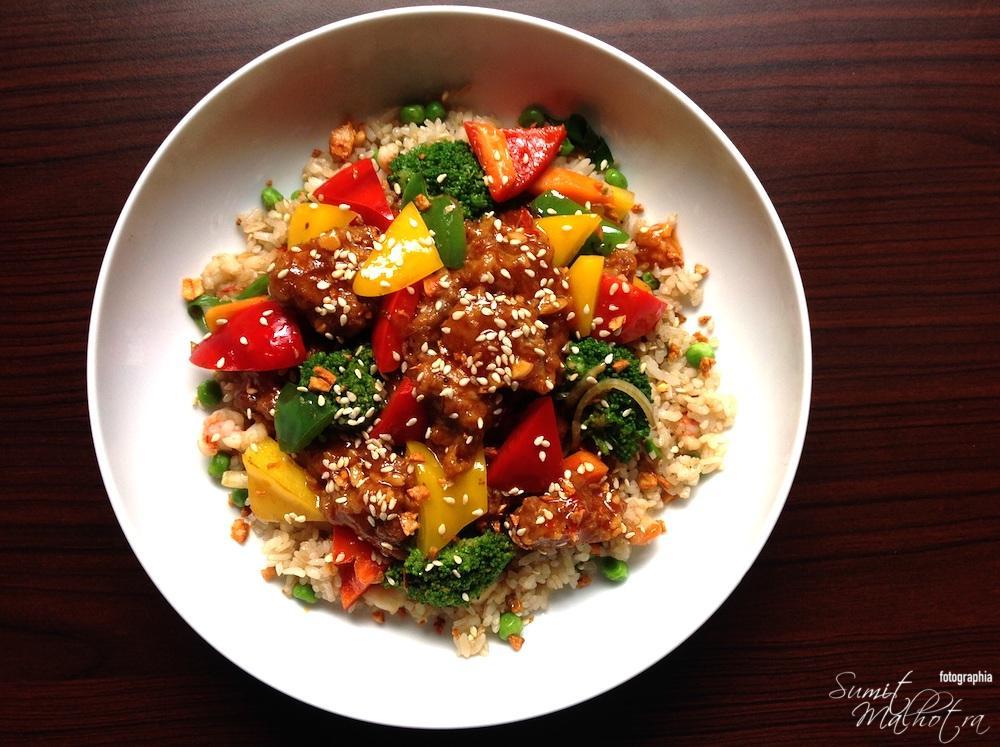 Sesame Seeds Garnish on Vegetables