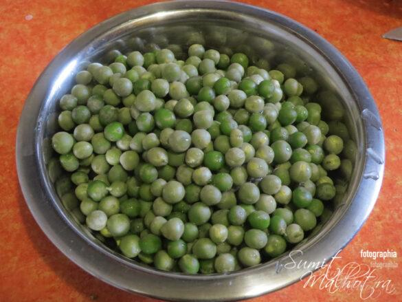 Shell the peas