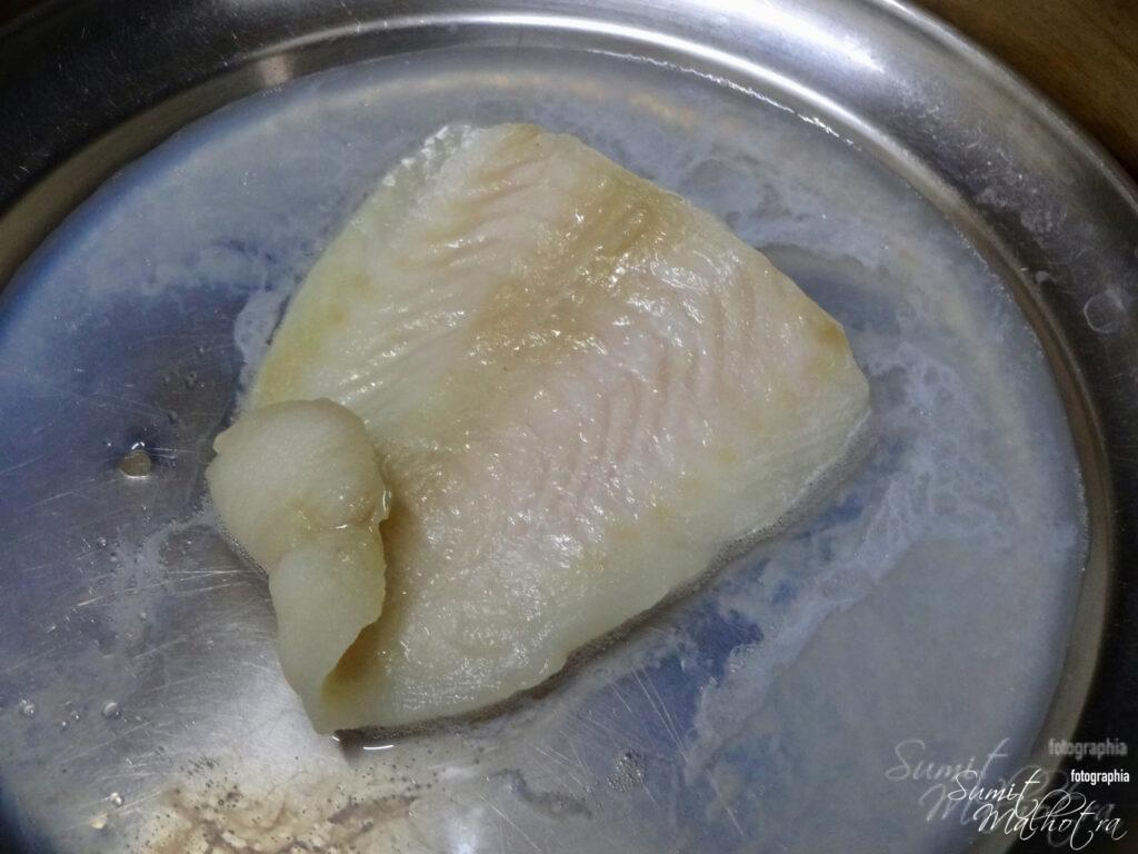 Steamed Basa Fish in Bamboo Steamer