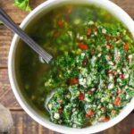 Chimichurri recipe, make chimi dip at home, chimichurri sauce recipe
