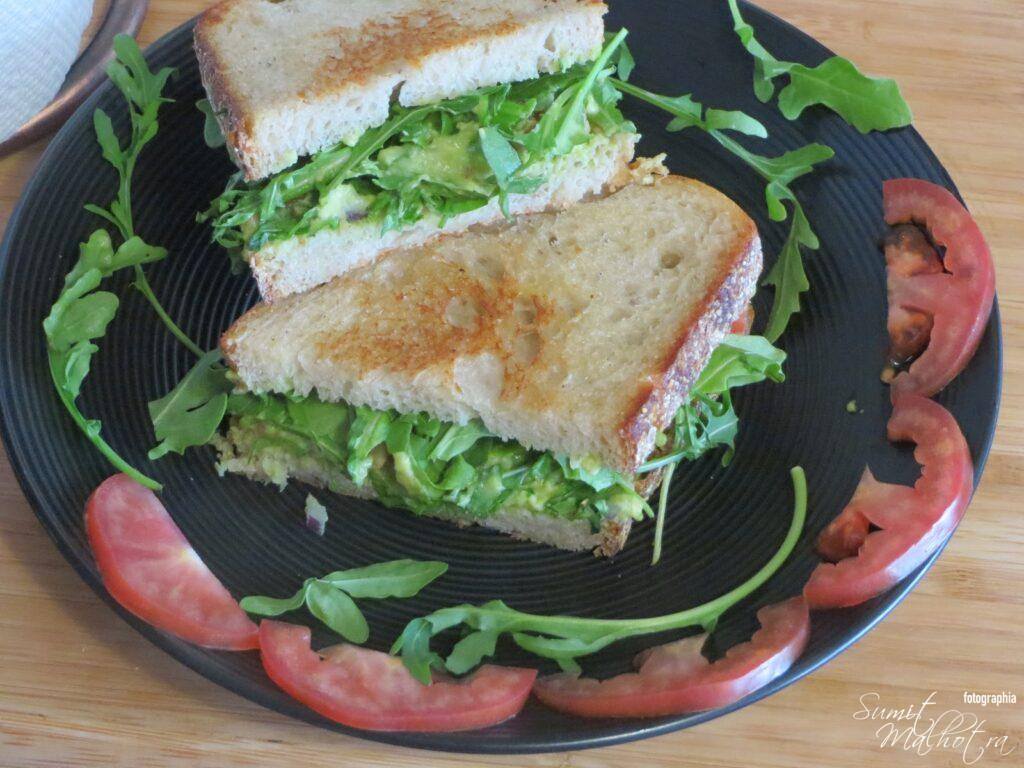 Guacamole Sourdough Sandwich is Ready
