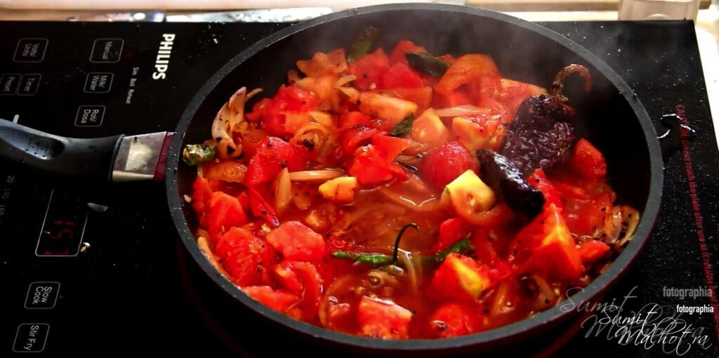 Mix Well & Let the Tomatoes Cook
