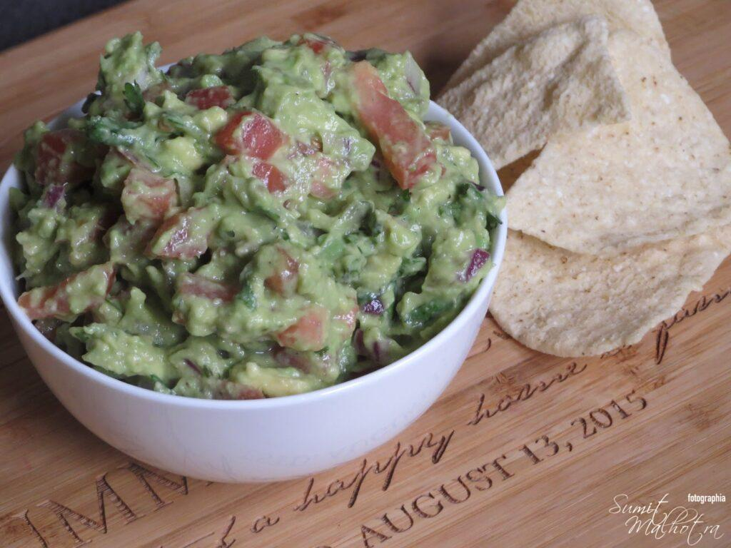 Serve your homemade guacamole immediately