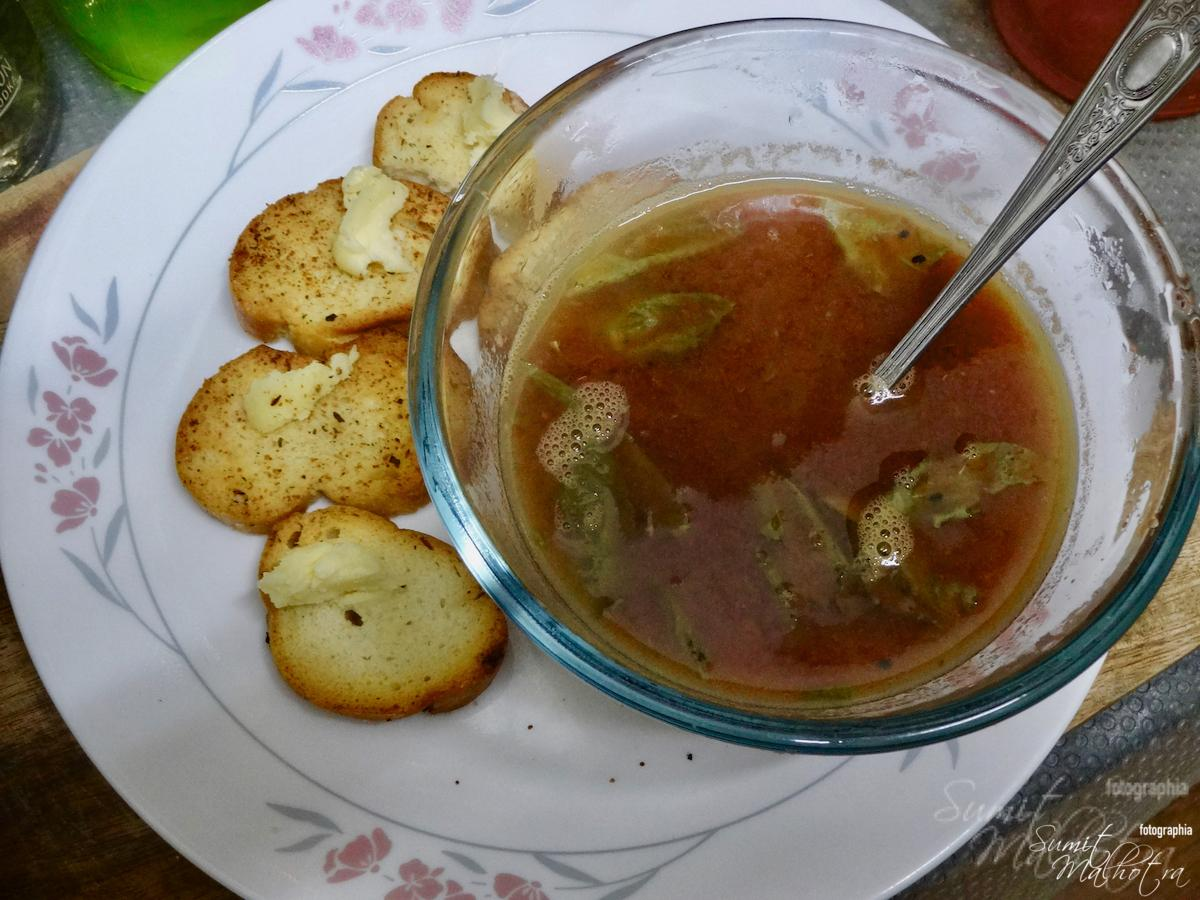 Tomato Date Soup is Ready