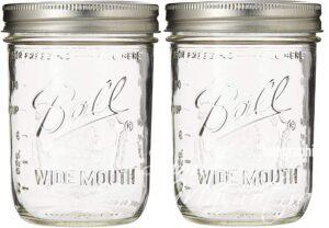500 ml wide mouth glass mason jars