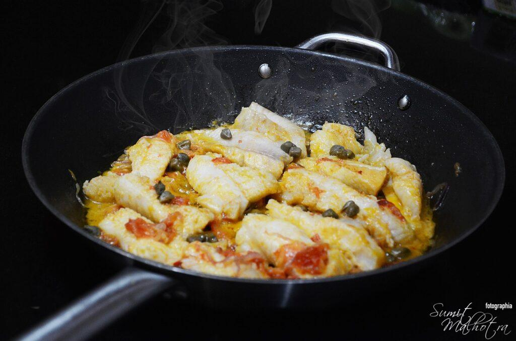 Grouper Fish Curry with Tomatoes & Capers