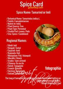 Spice Card - All About Tamarind | Know Your Spice Imli (Tamarindus indica L.)