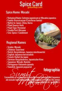 Spice card - all about wasabi   know your spice wasabi or japanese horseradish (eutrema japonicum)